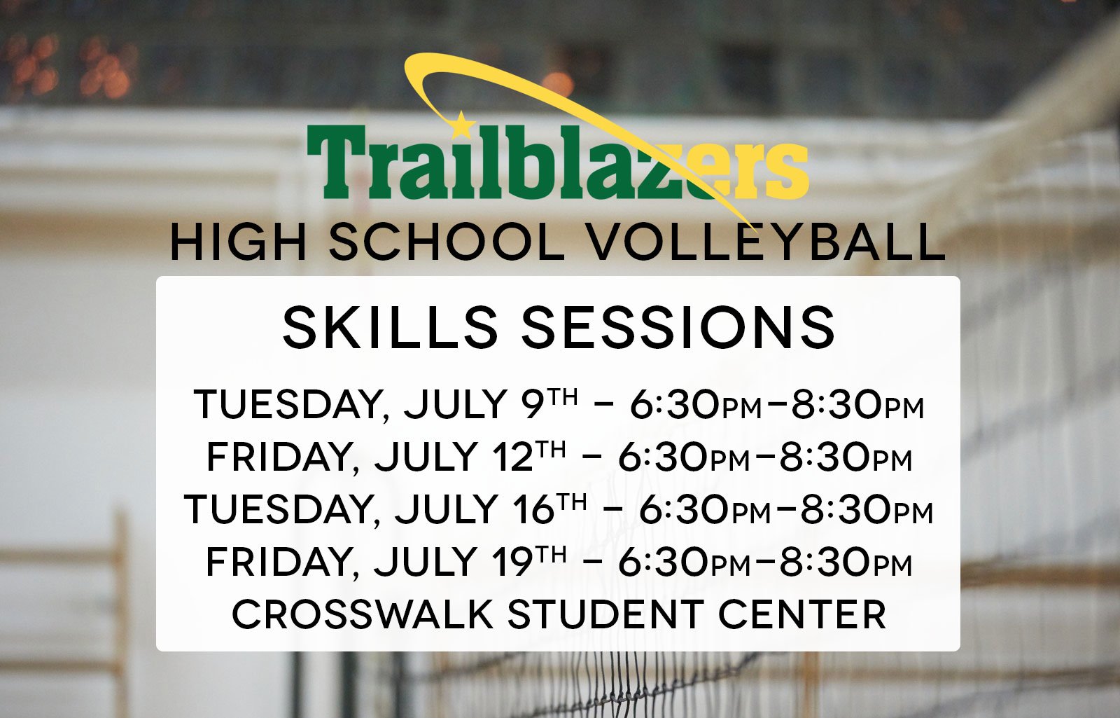 High School Volleyball Skills Sessions